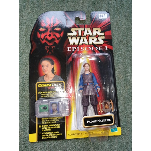 146 - Star Wars Episode 1 Padme Naberrie – Comm Talk – Hasbro – Sealed on Card...