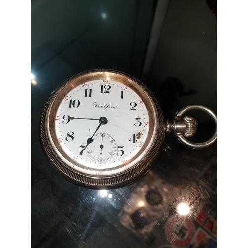 261A - Rockford 16s 17 Jewel Grade 575 circa 1901 pocket watch running unmarked...