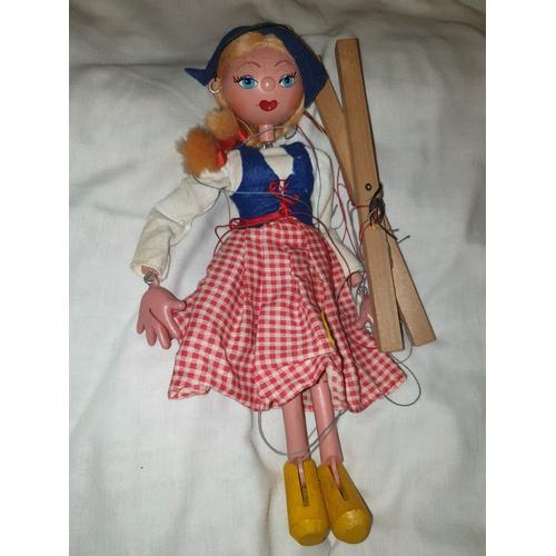 175 - Vintage Pelham Puppet Dutch girl String Puppet,...