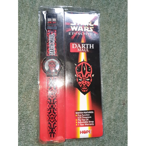 67 - Episode 1 STAR WARS - DARTH MAUL WATCH new sealed...