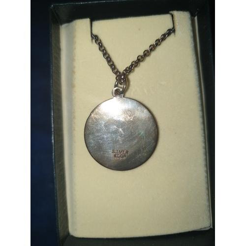 115 - Fine Large Vintage Sterling Silver St Christopher 10g...