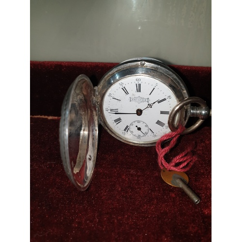 392 - Antique JACQUES Key-winding SWISS Silver Pocket Watch...