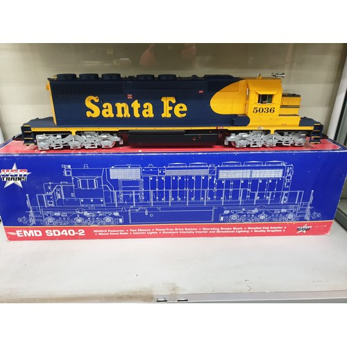 383 - USA TRAINS 5036 SANTA FE SD40-2 DIESEL LOCO G Scale WITH MTS DIGITAL SOUND FITTED...