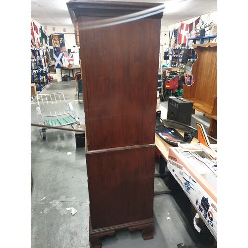 1 - C1800 Tall Boy in two sections good condition...