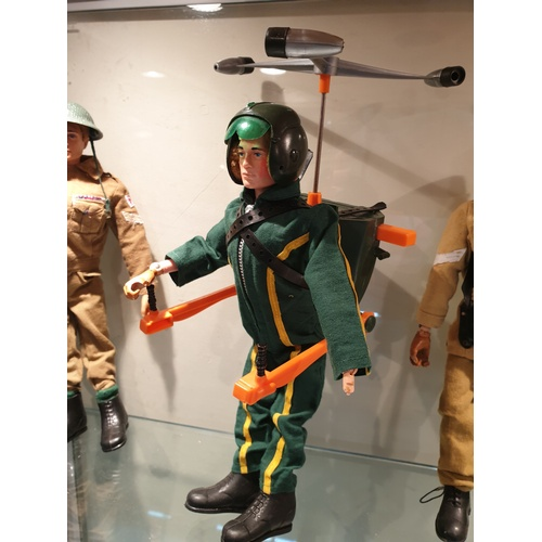83 - Vintage 70s Action Man Gyro copter working...