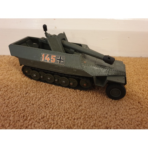 491 - DINKY 694 TANK DESTROYER WWII GERMAN ARMY EXCELLENT...