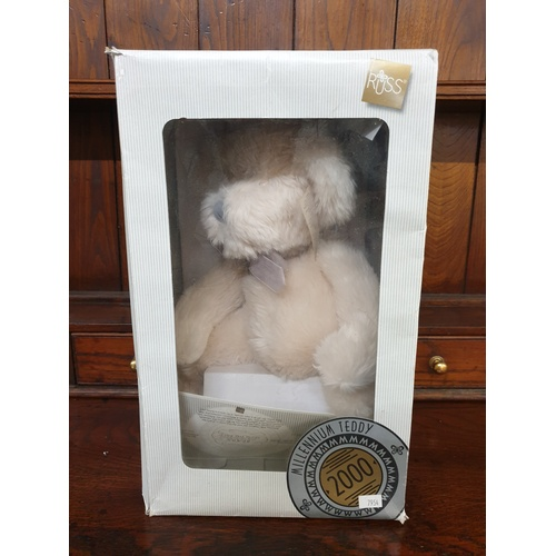 38 - 2000 Russ Millennium Teddy Plush Cream Colored 16