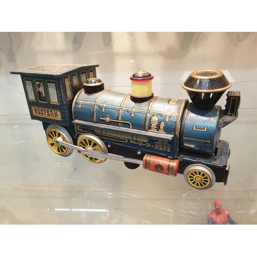 32 - Tinplate Vintage Japanese Tin Plate Train...