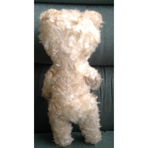 48 - VINTAGE GERMAN STRAW FILLED ARTICULATED BEAR 15