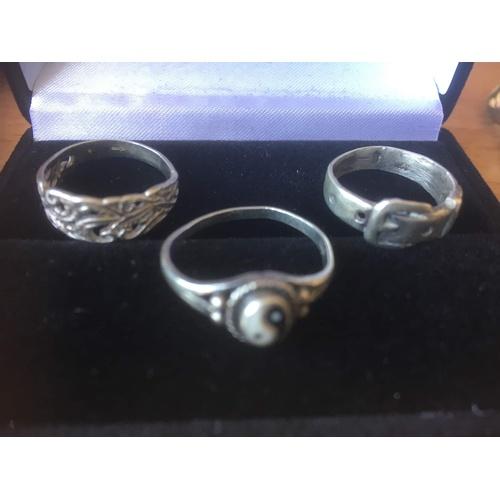 88 - 3 rings silver 925 5.3 gr...