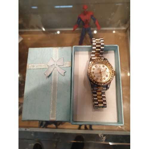 395 - Lady Rolex mechanical watch unauthenticated...