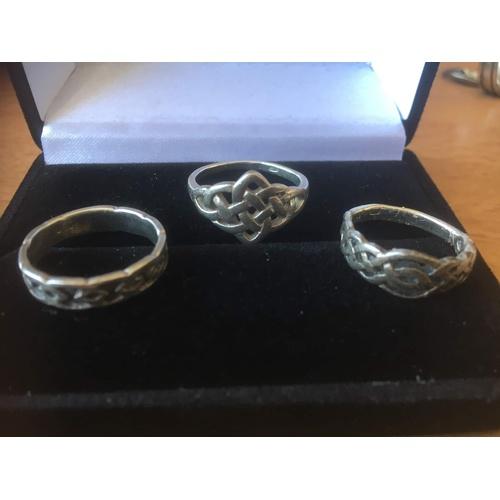 89 - 3 rings silver 925 7.8 gr...