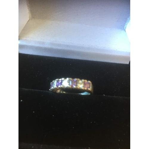 124 - ring silver 925 3.3 gr...