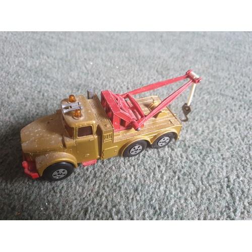 578 - Matchbox Superkings Esso Scammel Heavy Wreck Truck...