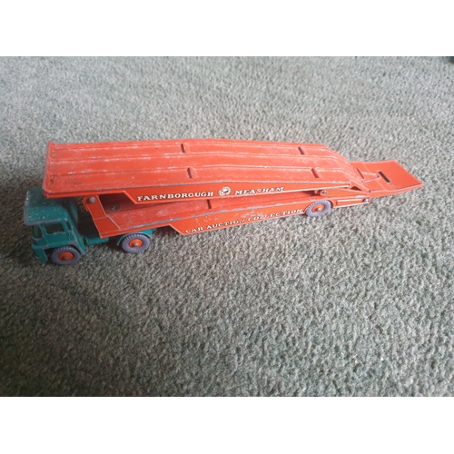 558 - MATCHBOX LESNEY KING SIZE K-8 GUY WARRIOR CAR TRANSPORTER FARNBOROUGH...