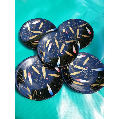 253 - 5 Japanese lacquer plates...