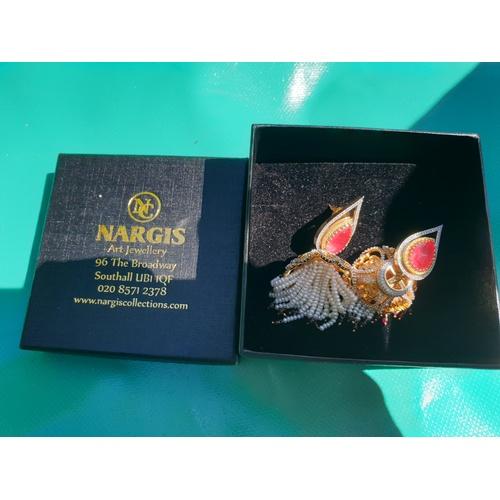 284 - Nargis of London Asian earings unused...