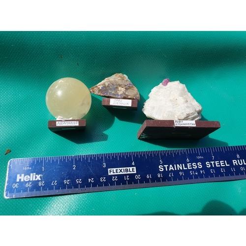 254 - Aquamarine. Opal & Ruby...