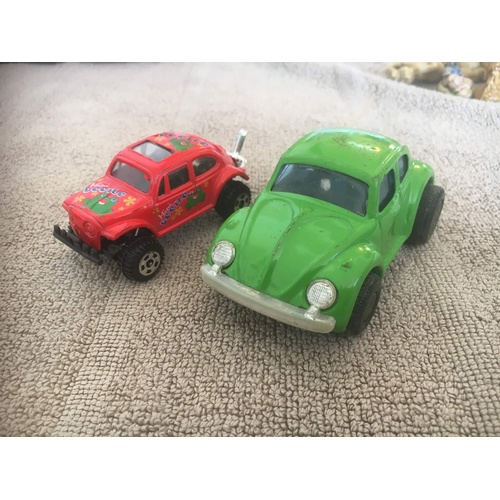 407 - 2 x VW beetle one Japnese tinplate...