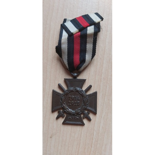 208 - German medal Cross of Hindernberg WW1...