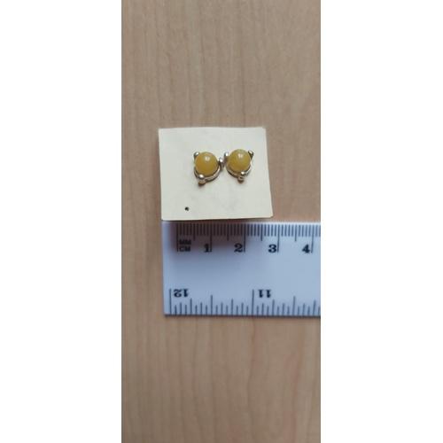 487A - Amber earings...