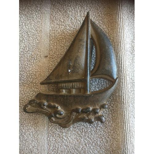 299 - Sailboat door Knocker 17 cm 6 inch...