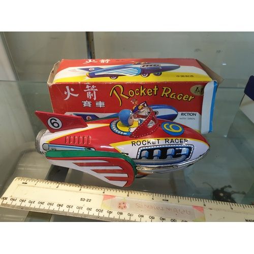 29 - Tinplate Friction Rocket Racer...