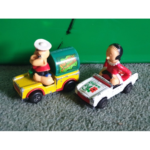 573 - Matchbox Popeye and Olive cars...