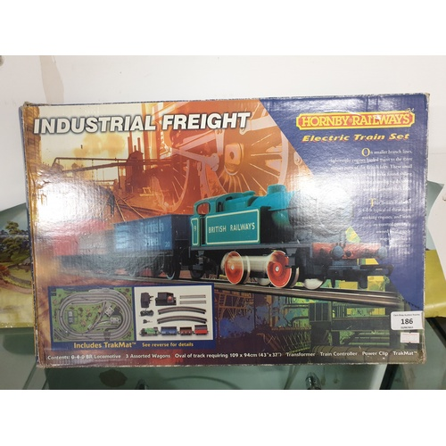 340 - HORNBY INDUSTRIAL FRIEGHT SET ENGINE & WAGONS set...