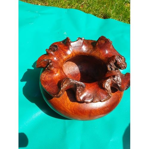 21 - Carved root Bowl...