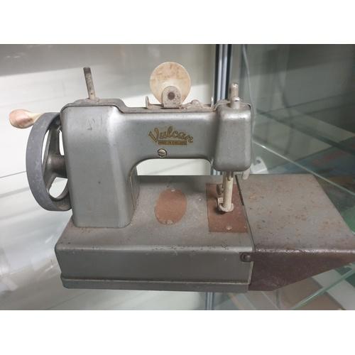 47 - Vulcan vintage chain drive sewing machine toy miniature...