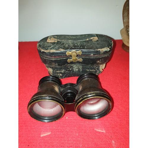 6 - Vintage Opera Theater Glasses or Binoculars & Case Lemair Fab Paris...