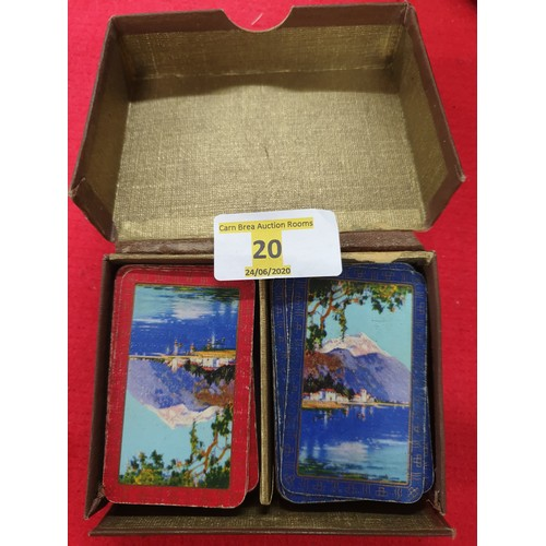 20 - Two complete sets of old Japanese playing cards...