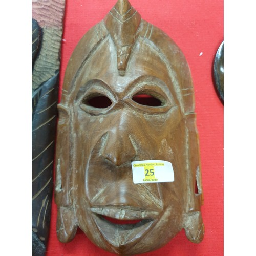 25 - West African mask small...