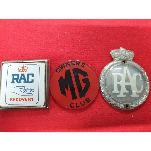 5 - Rac and MG badges...
