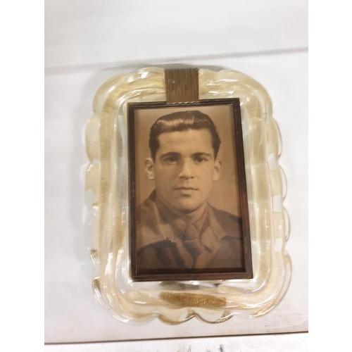 412 - Very Rare early Murano Glass photo frame...