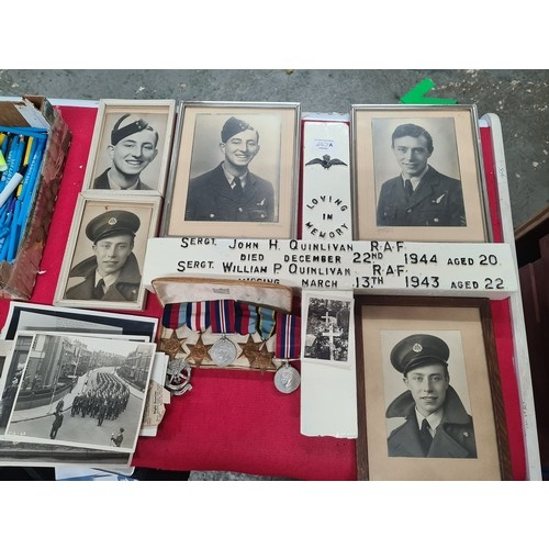 447A - WW2 Medals, Ephemera and photos two brother RAF passed away WW2. includes Air Star loads memorabilia...