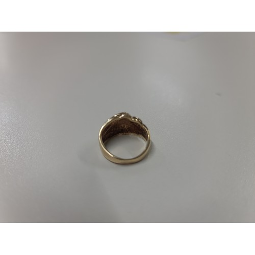 451 - 9ct gold ring with Diamonds (2,8gr)