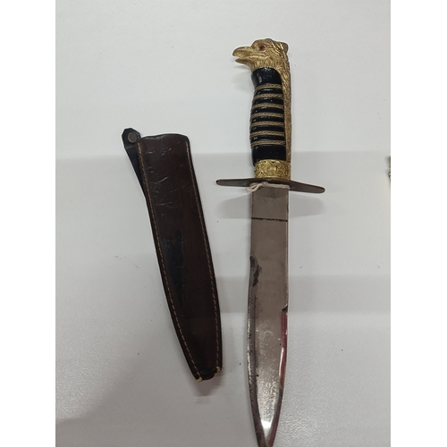 15 - Replica WW2 ceremonial German dagger ruby eye...