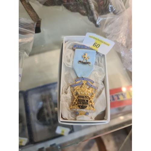 60 - RMIB1970 Boys Masonic Medal...