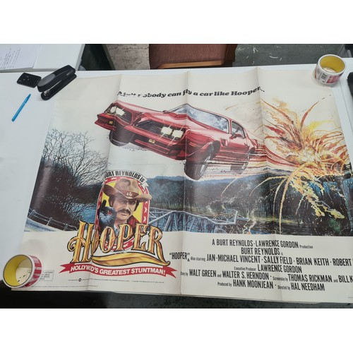 44 - Hooper Original Quad Movie Poster Burt Reynolds 1978...