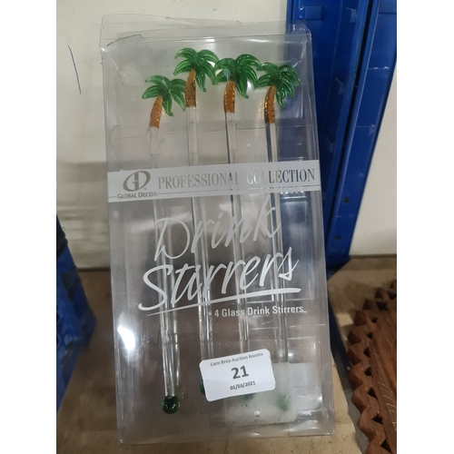 21 - Set of cocktail stirrers...