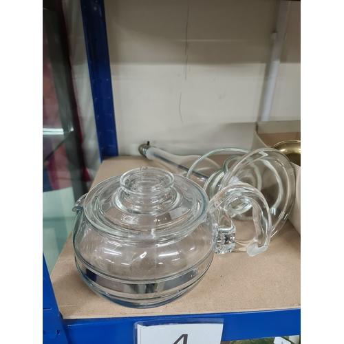 4 - Glass lamp + Glass teapot...