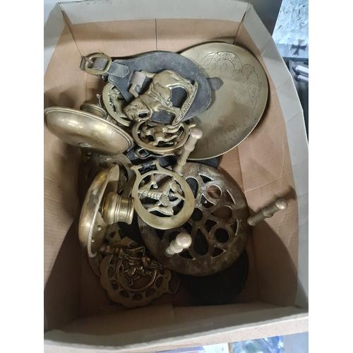 5 - Box of brass bits...