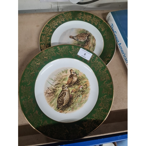 8 - 2 x Bird plates...