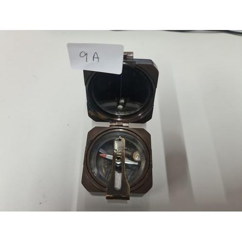 9A - Kelvin & Hughes Brass compass...
