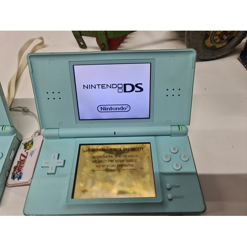 6 - Nintendo DS Lite with animal crossing partial faulty screen...