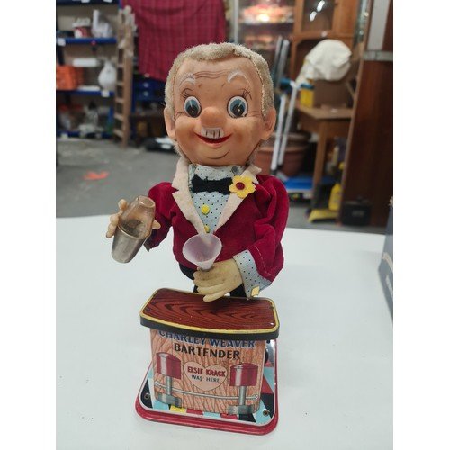 11 - Vintage Charlie Weaver Bartender Battery Operated Toy GWO...