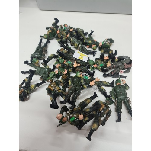 32 - GI joe figures...
