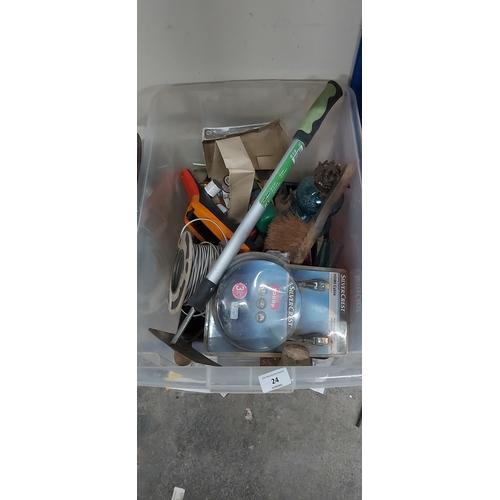 24 - Box of tools etc...